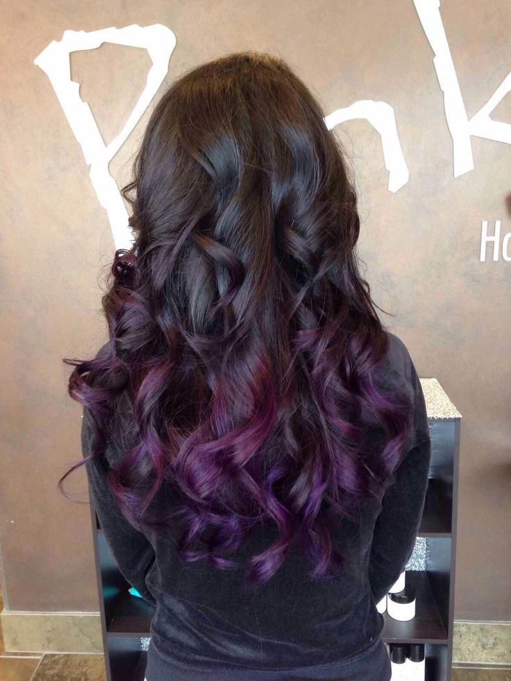 black violet ombre hair - photo #4