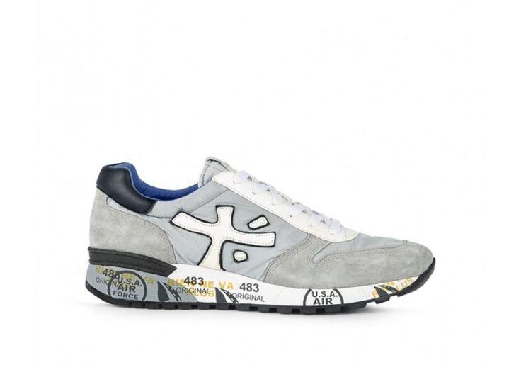 Sneaker Uomo Premiata mickp 1430e pelle grey white spring summer 45 45 45