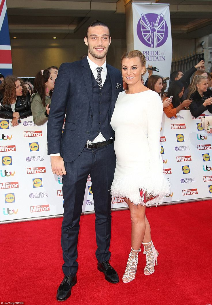 Off parental duties: Billi Mucklow andAndy Carroll left their baby sonArlo at home as th...