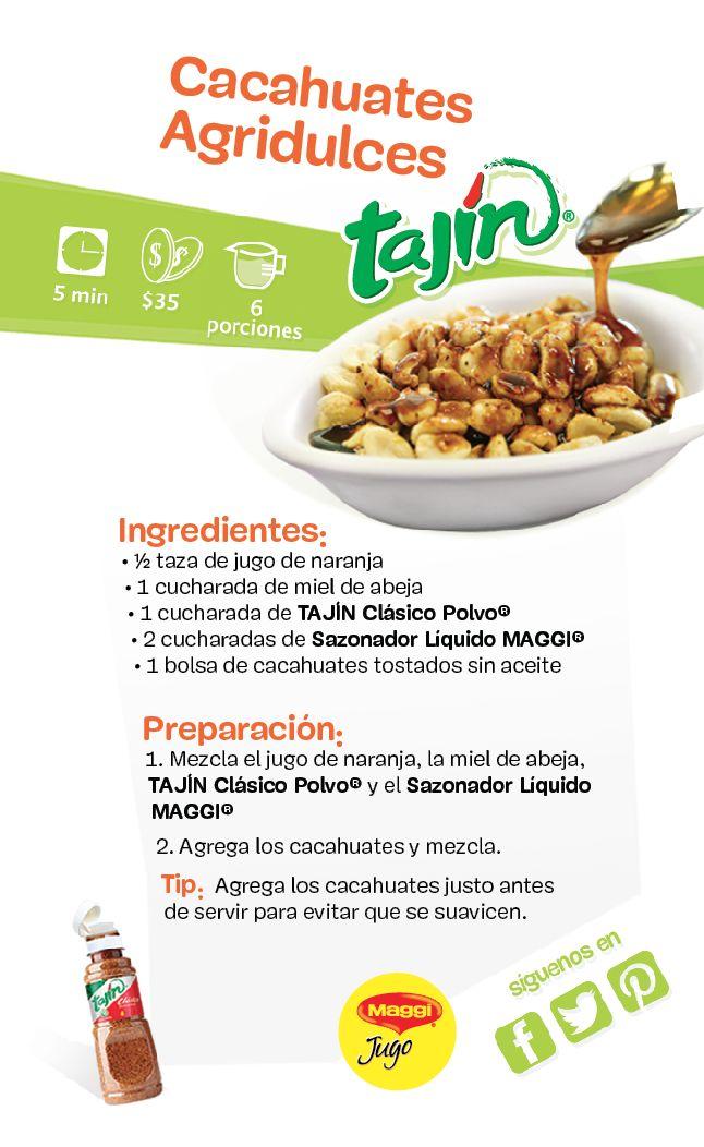 Cacahuates agridulces #botana #recetas #Tajín / Bittersweet peanuts #snack #recipe