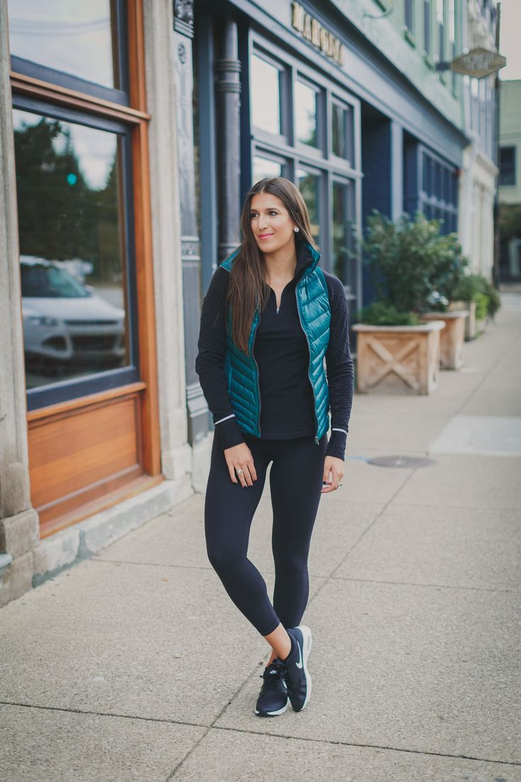 alo puffer vest, alo quilted vest, nike air max sneaker, athleisure, a southern drawl workouts, weekly workout routine, weekly workouts, weekly exercises, polar a360 watch, cute activewear, cute workout outfit, running routine, girl gains, fitness inspiration, nike fitspo, athleisure, nike athleisure outfit // grace wainwright a southern drawl