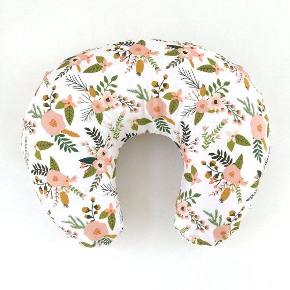 Boppy Cover Blush Sprigs and Blooms. Boppy. Nursing Pillow. Boppy Pillow Cover. Boppy Slipcover. Minky Boppy Cover. Floral Boppy Cover.