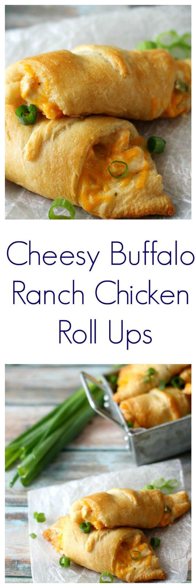 Cheesy Buffalo Ranch Chicken Roll Ups