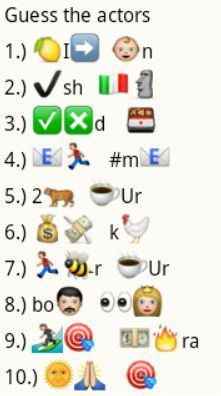 Whatsapp Guess Puzzle Actor Names 1 Dare Games Emoji Games Kitty Party Games