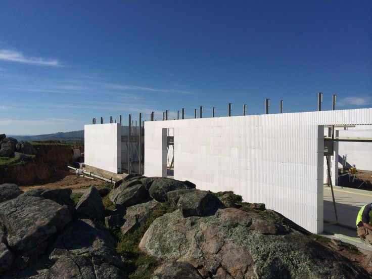 The ICF's white surface will be finished with concrete render.