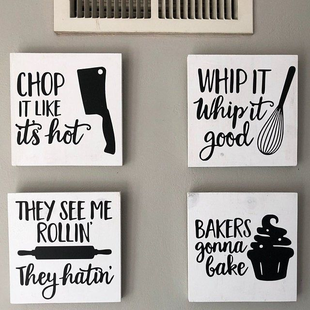 Kitchen Signs Funny Kitchen Signs Baker Decor Rustic Decor Etsy In 2020 Funny Kitchen Signs Kitchen Humor Kitchen Signs