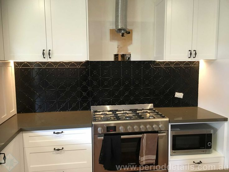 This kitchen is nearly finished.  We've installed the Clover panels in Dulux Duralloy Black Gloss Powdercoat.  All that is needed now is to install the range hood and fit off the powerpoints.   Great job David! For sizing and pricing go to www.perioddetails.com.au