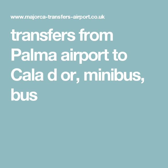 transfers from Palma airport to Cala d or, minibus, bus