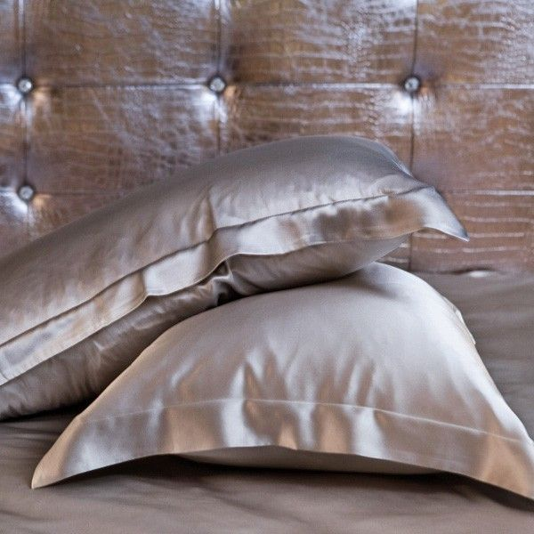 Buy Silver 100% Mulberry Oxford Silk Pillowcase for Hair and Facial Beauty