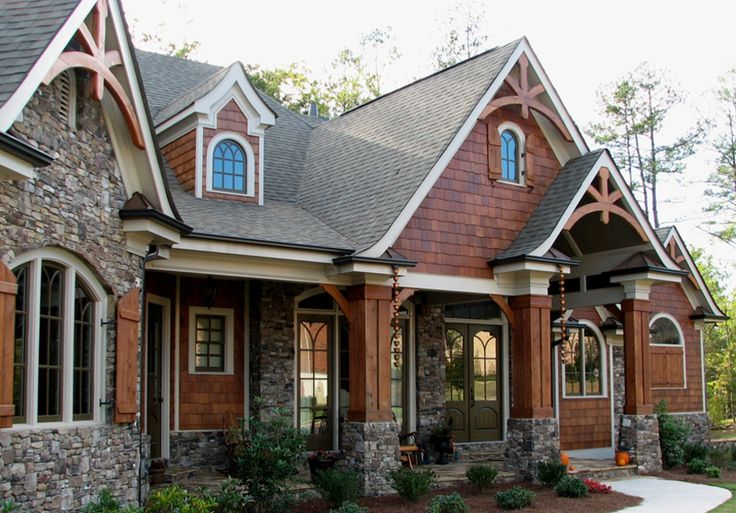Best 25 craftsman style exterior ideas on pinterest High end house plans