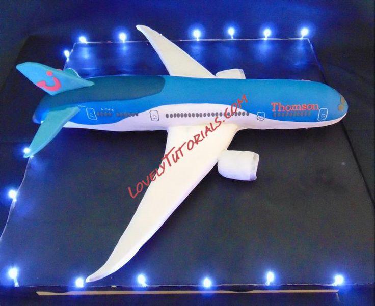 Boeing 787 Dreamliner cake construction tutorial