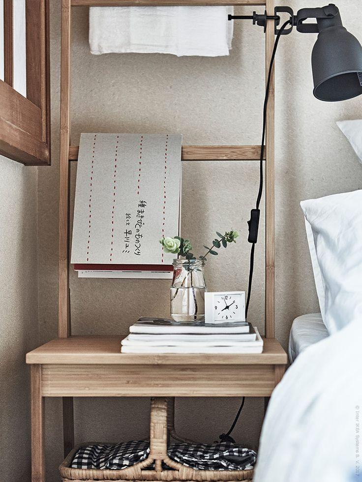Stol i bambuRÅGRUNDoch vägg-/klämspotHEKTAR.