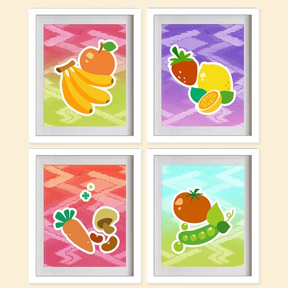 Fruity Kitchen Art Print  Citrus Fruits Peas by MadeForYouPrints, $42.95