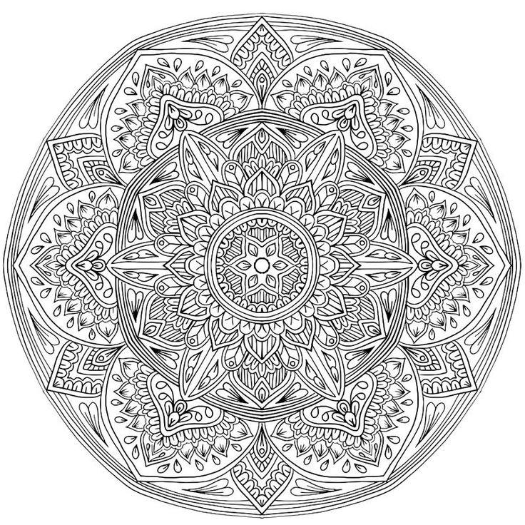 Сложные и красивые раскраски - мандала и цветы