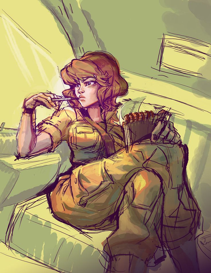 quickie april o'neil by mishinsilo on DeviantArt