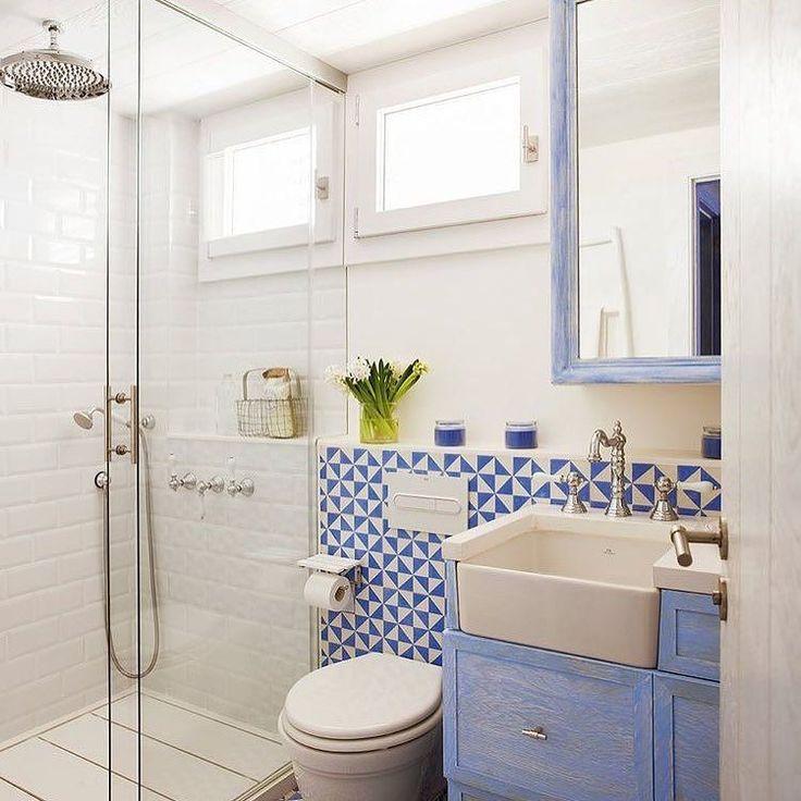 Bom dia!!! #azul #blue #banheiro #decor #decoração