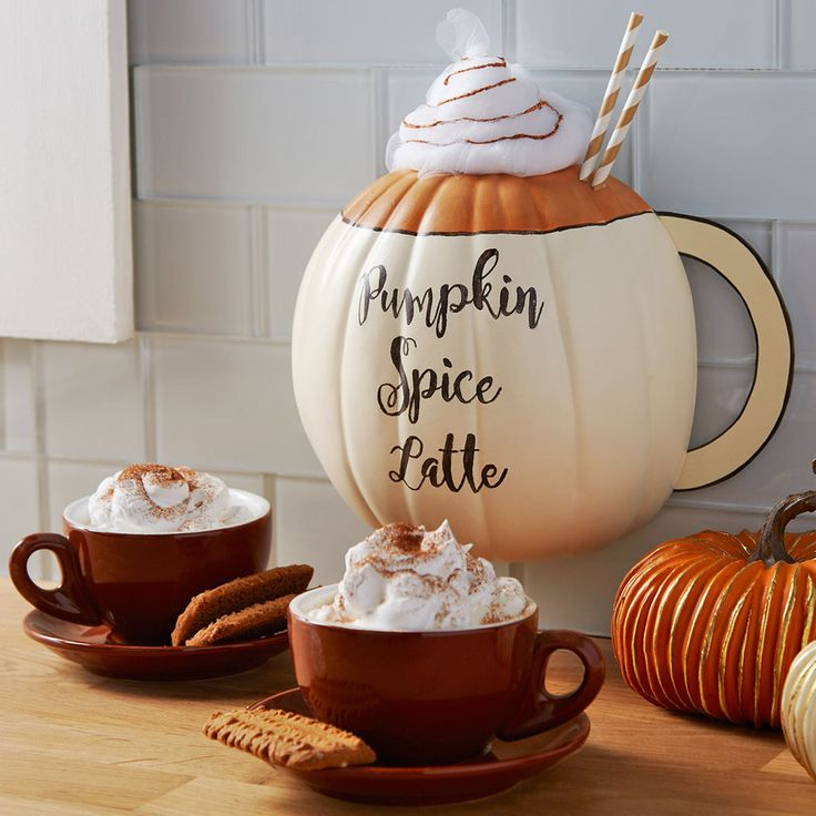 Use a half pumpkin to easy create this DIY Pumpkin Spice Latte wall decor. So adorable to pay tribute to one of the most popular fall beverages.