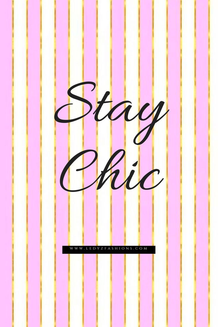 Stay Chic, fashion and shopping quote with a a pink and gold striped background. This quote is for an fashionista or anyone who loves to shop! Some of the most beautiful words that are inspiring and motivational. Style Quotes. Style Icons. Fashion Quotes. Fashion Icons. Shopping Quotes. Funny Shopping Quotes. Style Sayings. Fashion Sayings. Some of the most inspiring, motivational and meaningful quotes we love! Ledyz Fashions || www.ledyzfashions.com