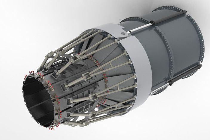 After burner nozzle thrust vectoring jet