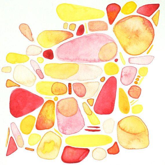 original modern minimalist watercolor painting  by AETHERart, $25.00