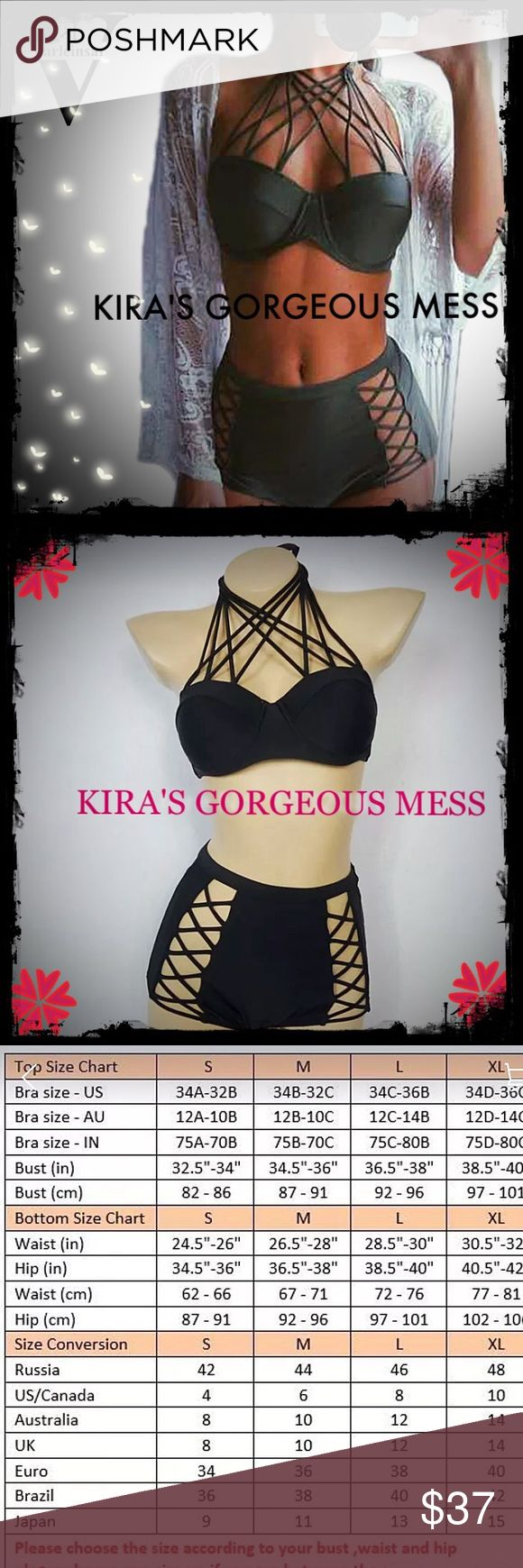 BNWT PUSH UP HIGH WAIST BIKINI PIN UP GIRL STYLE BNWT BRING OUT THAT RETRO SEXY PIN UO GIRL STYLE!!!!! PLEASE PREORDER AVAILABLE IN OLIVE GREEN OR BLACK Boutique Swim Bikinis
