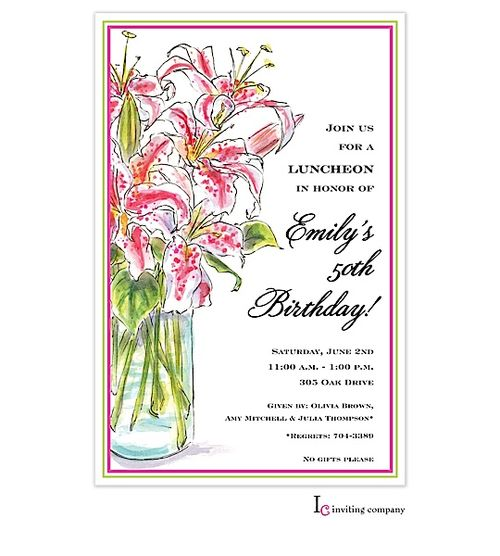 78 Best Birthday Party Invitations For Adults Images On Pinterest