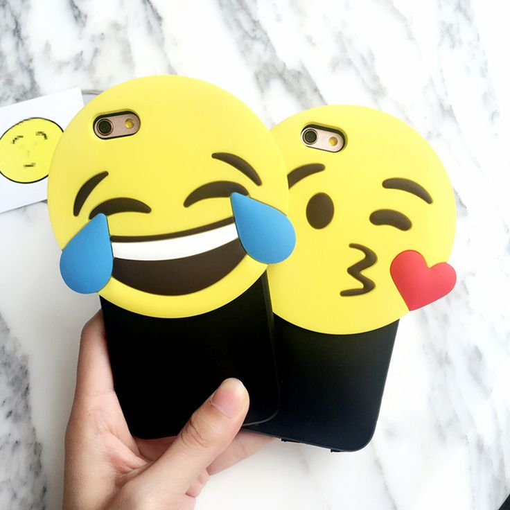 Stylish Cute Cartoon 3D Stereo Smile Emoji Soft Silicon + Hard PC Slim Cover For iPhone 6 s + Hot Chic Fashion Phone Cases Girls(China (Mainland))