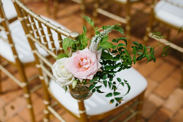 Gold and white Tiffany Chairs with blooms | Wild at Heart Photography | Visually Creative Styling | Sydney Wedding Venue | Historic Eschol Park House | Garden Wedding