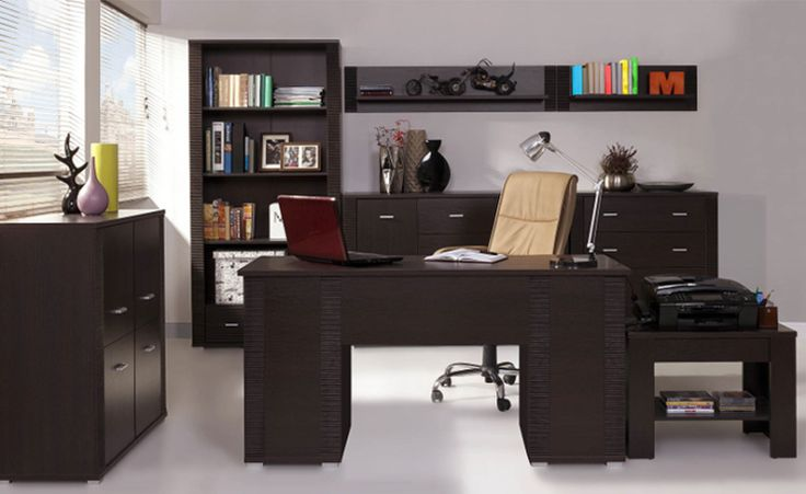 Biuro i gabinet GRESS, wenge  #meble #dom #wnetrza #wystrój #mieszkanie