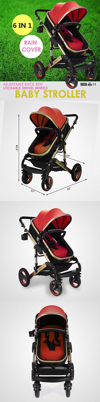 Other Stroller Accessories 180917: New Belecoo Baby Carriage Foldable Travel System Stroller Buggy Pushchair Pram -> BUY IT NOW ONLY: $136 on eBay!