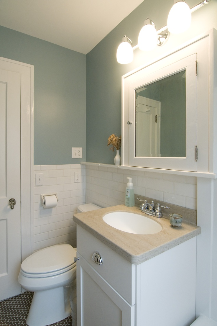 103 best bathroom images on pinterest bathroom ideas home and live subway tile halfway up