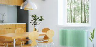 heizkörper streichen küche-minzgrün-hoz-möbel-retro