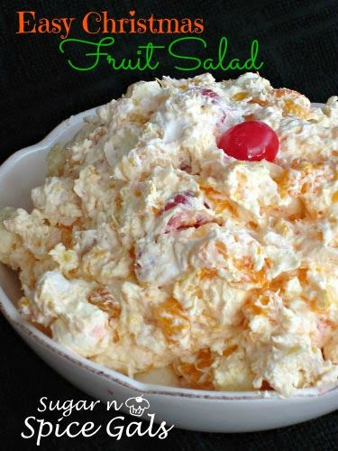 Spice Gals: Easy Christmas Fruit Salad