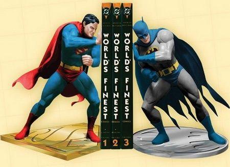 superhero bookends for boys room bookshelves