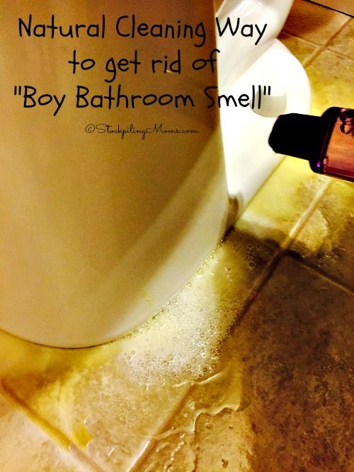 Natural Cleaning Way to get rid of Boy Bathroom Smell with only 3 ingredients!