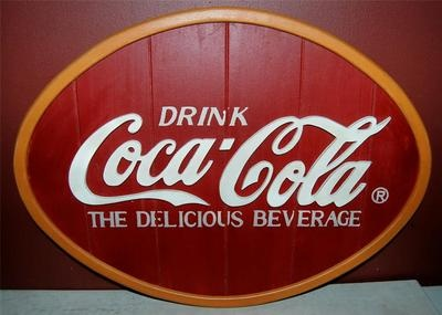 Awesome Vintage Style Coca Cola/coke/soda Wooden Sign! Great Condition