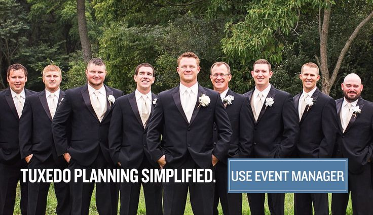 Organize your Wedding Tuxedos by using the Event Manager by Jim's Formal Wear