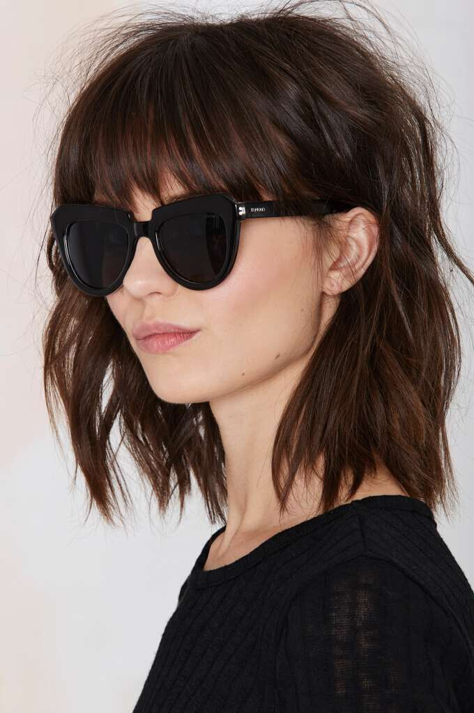 Short Shaggy Bob Hairstyles with Bangs