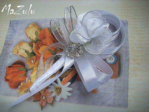 strieborné svadobné pierko