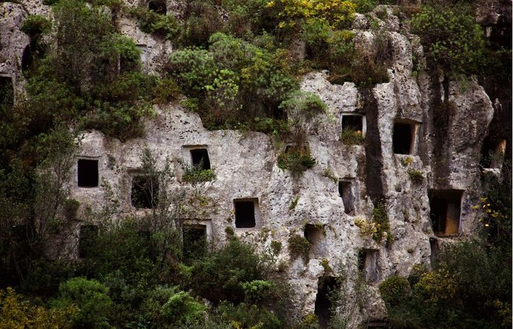 The rock-cut tombs of Pantalica, Sicily