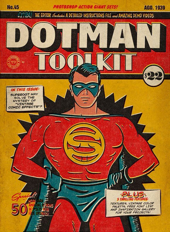 DotMan ToolKit Vintage Comic Effects by Thunder Pixels Co. on @creativemarket