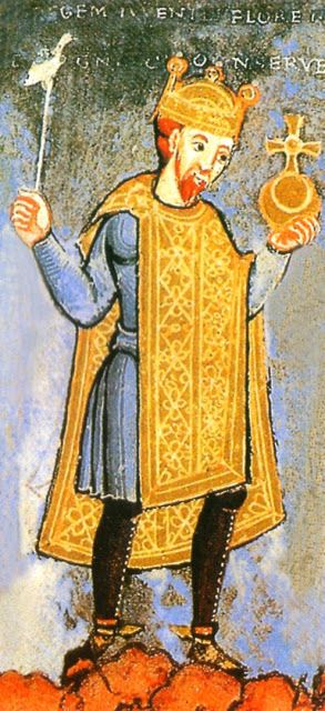 H.I.M. Emperor Henry III, of The Holy Roman Empire (1016-1056) - Henry III, called the Black or the Pious, was a member of the Salian Dynasty of Holy Roman Emperors. He was the eldest son of Conrad II of Germany and Gisela of Swabia. His father made him duke of Bavaria (as Henry VI) in 1026, after the death of Duke Henry V.