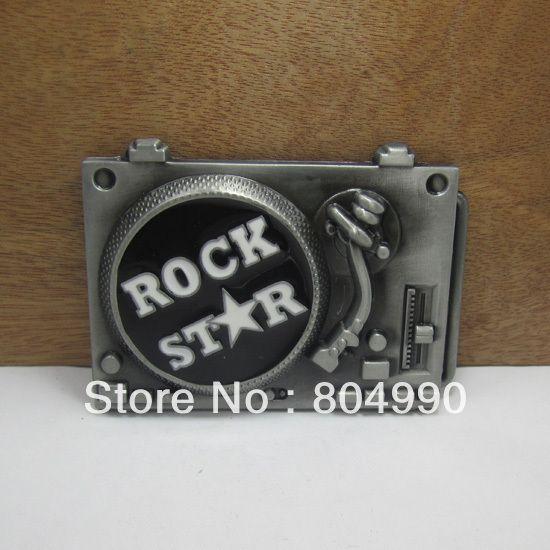 Рок звезда пряжки ремня с оловянные FP-03231 подходит для 4 см wideth ремень с непрерывной на складе