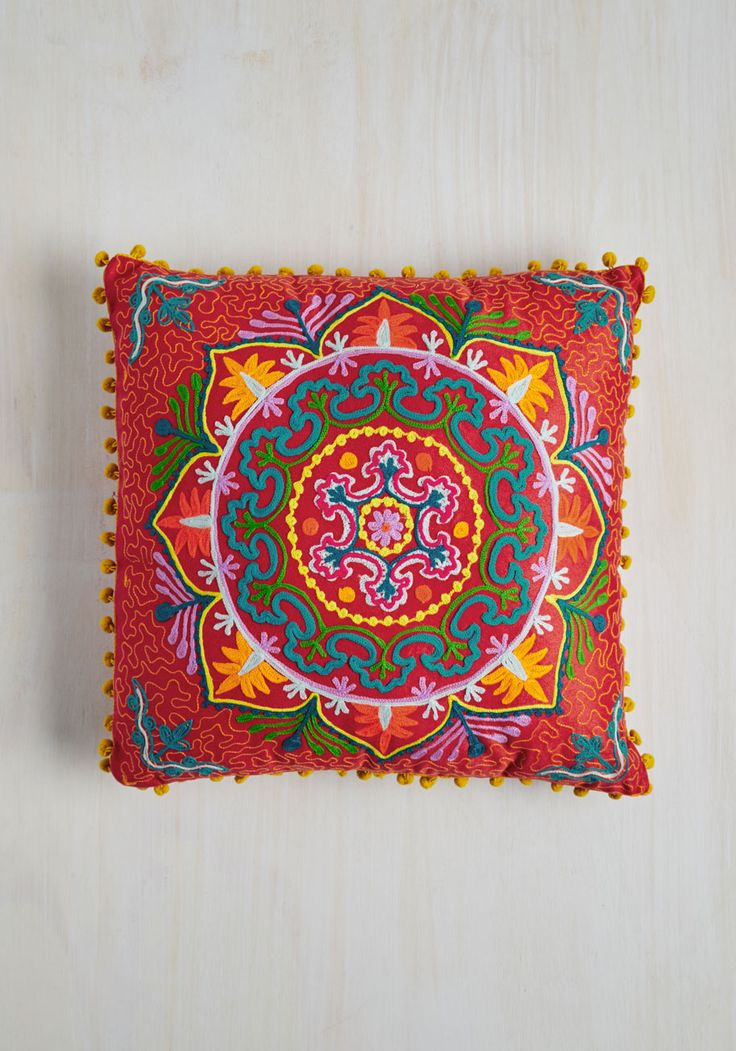 Days Glow By Pillow in Scarlet, @ModCloth