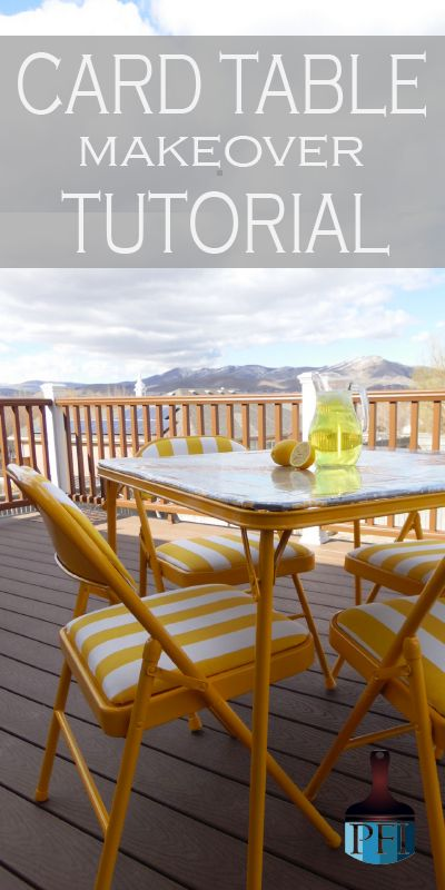 Do you have an old card table? Take a few hours and makeover that table! This card table tutorial give detailed steps on how to do it!