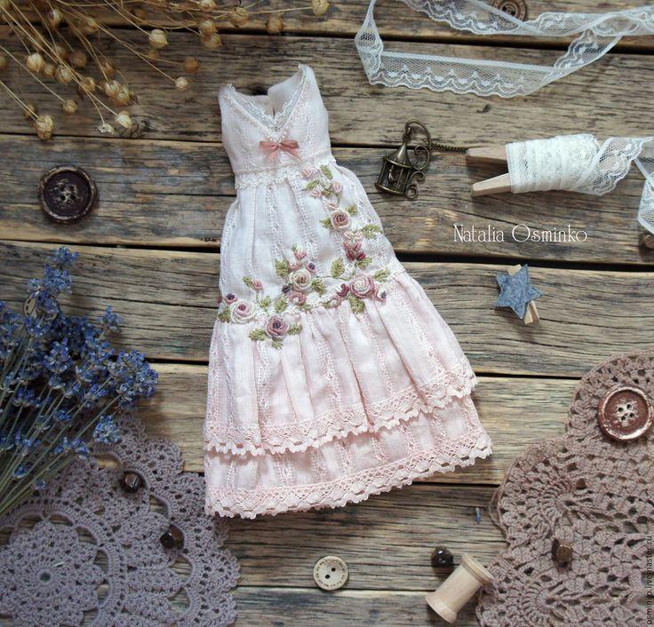 Купить Комплект одежды для текстильной куклы Маргарита - серый, белый, одежда…