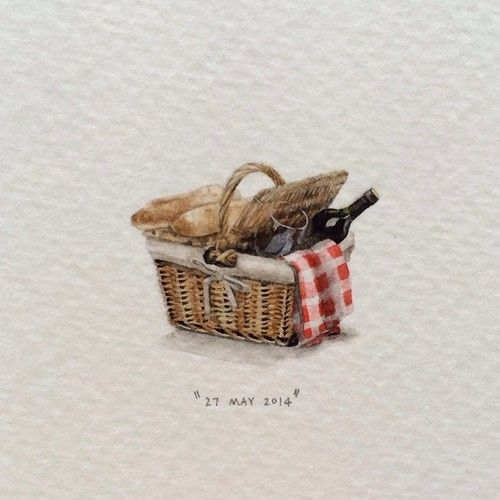 Day 147: Picnic basket 20 x 27mm - by Lorraine Loots