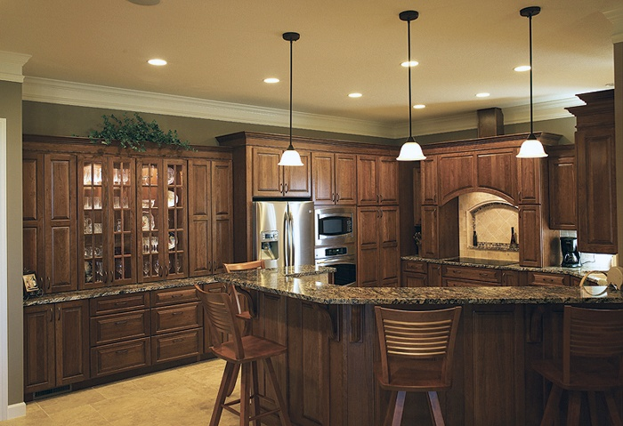 Raised Base Cabinets Shiloh Cabinetry Nice Hickory Kitchen Cabinets