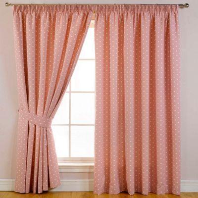 Debenhams pink spot curtains