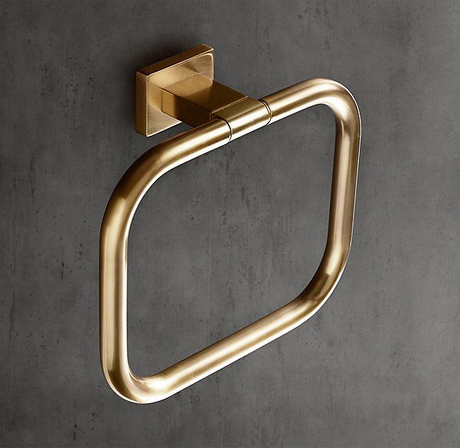 RH Modernu0027s Modern Towel Ring:With Its Squared Edges And Bull Nose Finials,  Our Modern Collection Pares Bath Design Down To Elegant, Elemental Form.